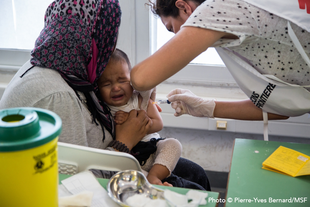 In June 2016, MSF has been conducting vaccination campaigns in several refugee camps and settlements in Greece.