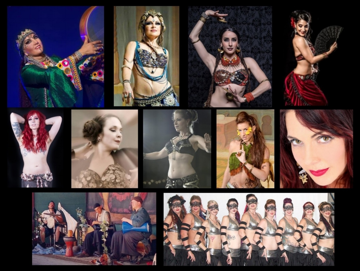 Top:  Amel Tafsout, Moria Chappell, April Rose, Silvia Salamanca   Middle:  Draconis, Jerikaye, Liora, Raphaella Lua, Stacey Lizette   Bottom:  Solecism, Trybe Habibi Bizarre