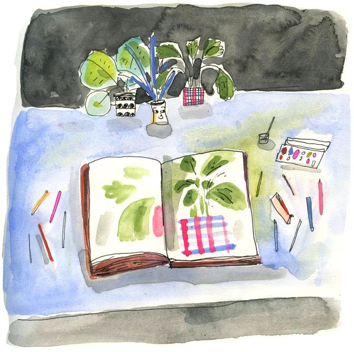 illustration by Elizabeth Graeber for Drawing Night #1