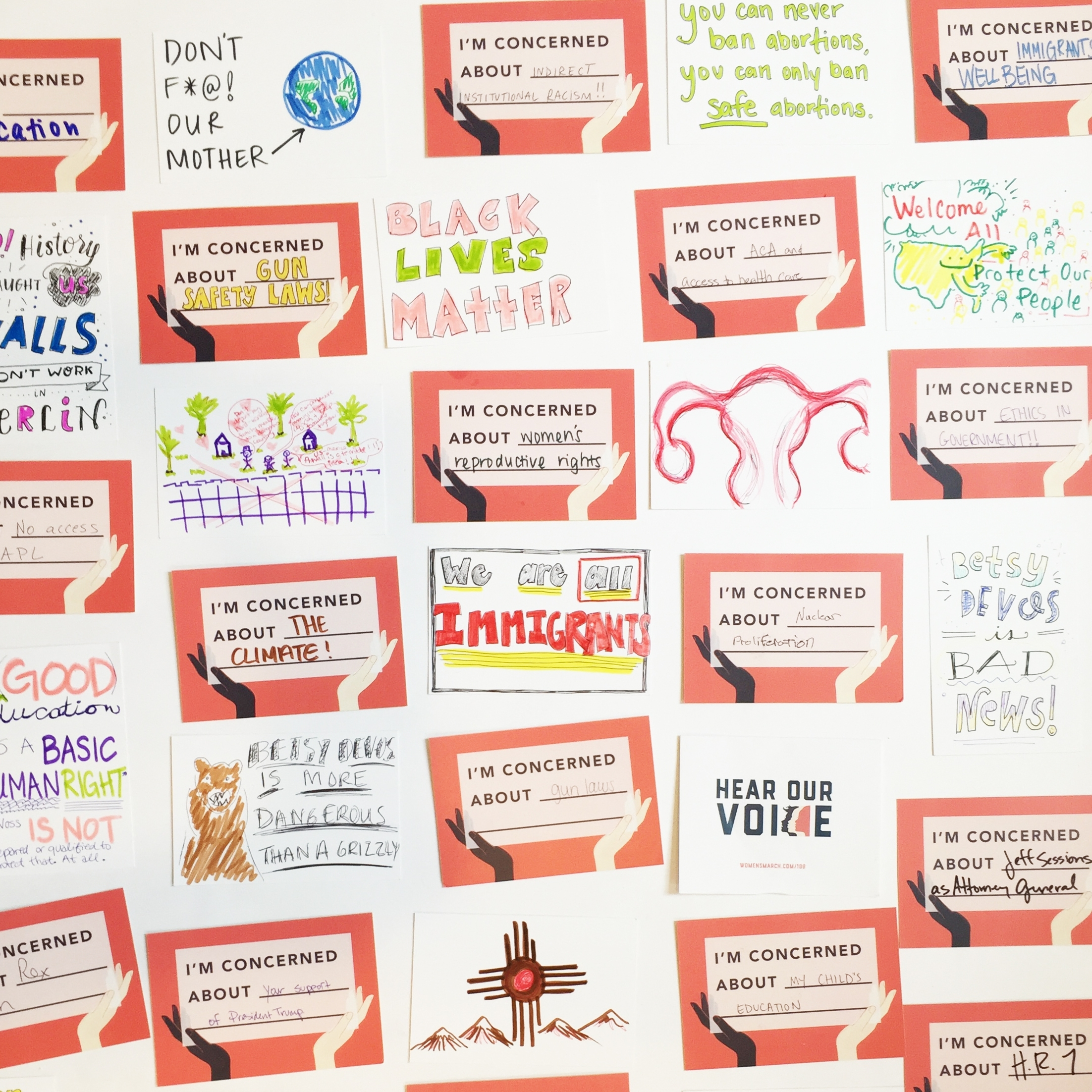 Photo of postcards from event