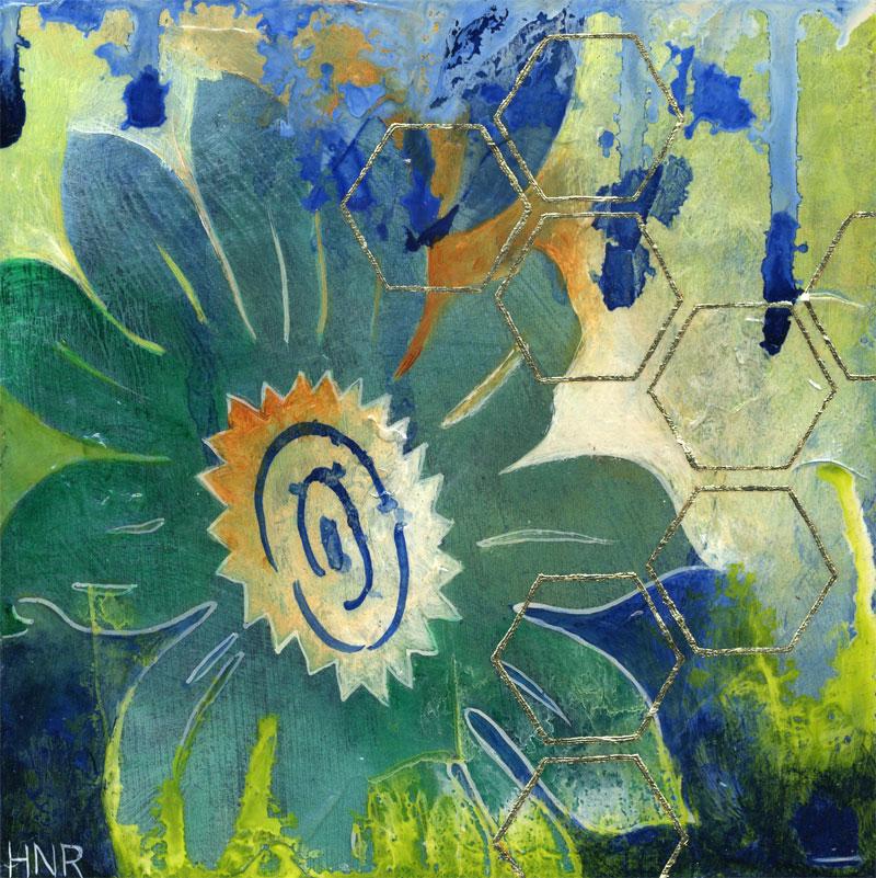 3 - Sunflowers Hexagons