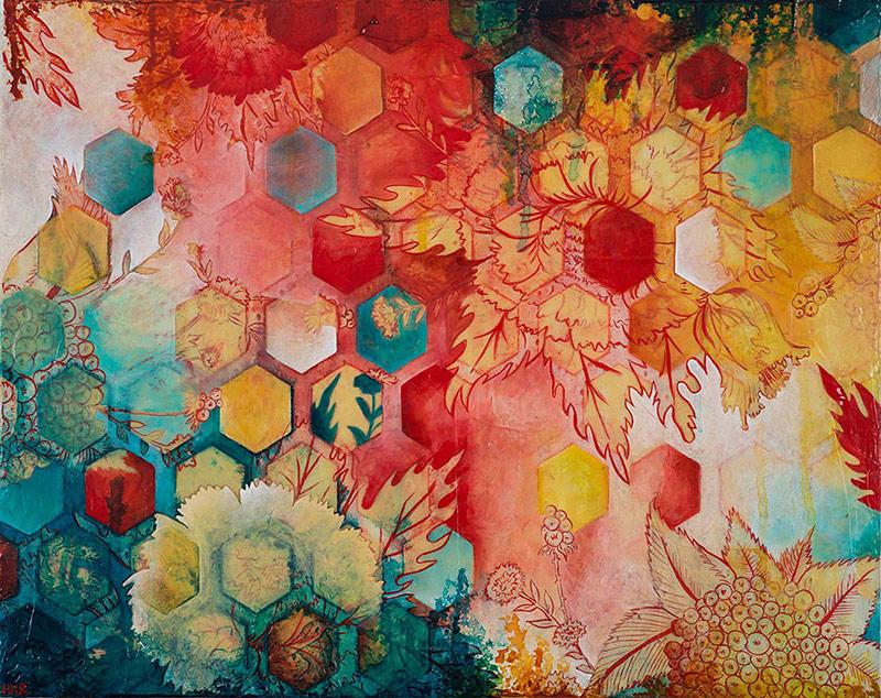 Hexagon Heat Wave (sold)
