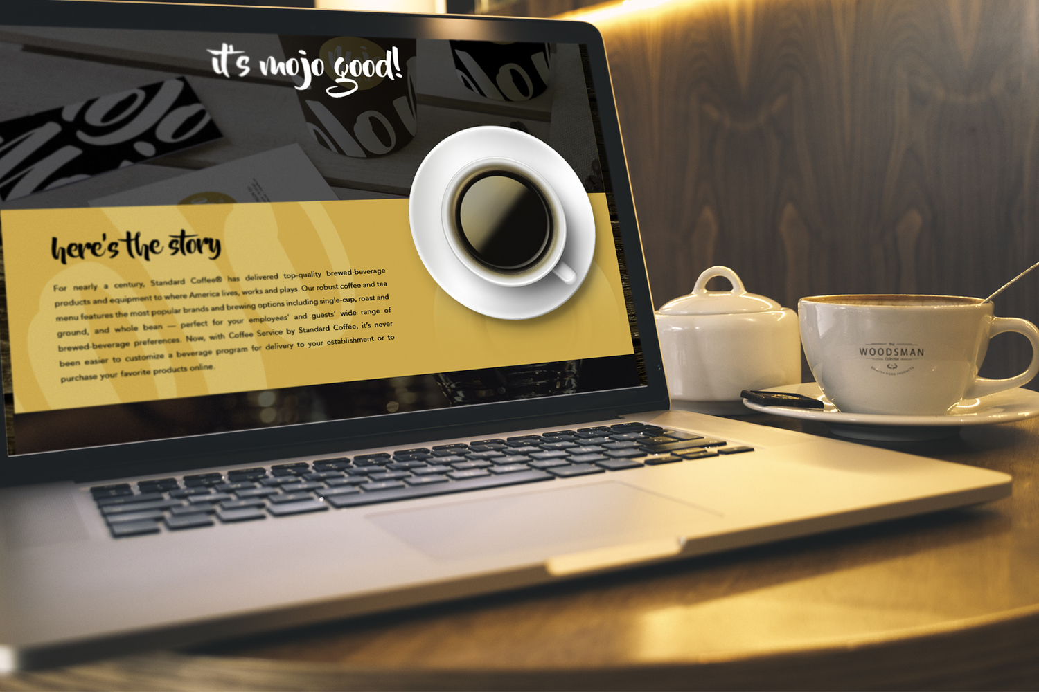 Website design landing page