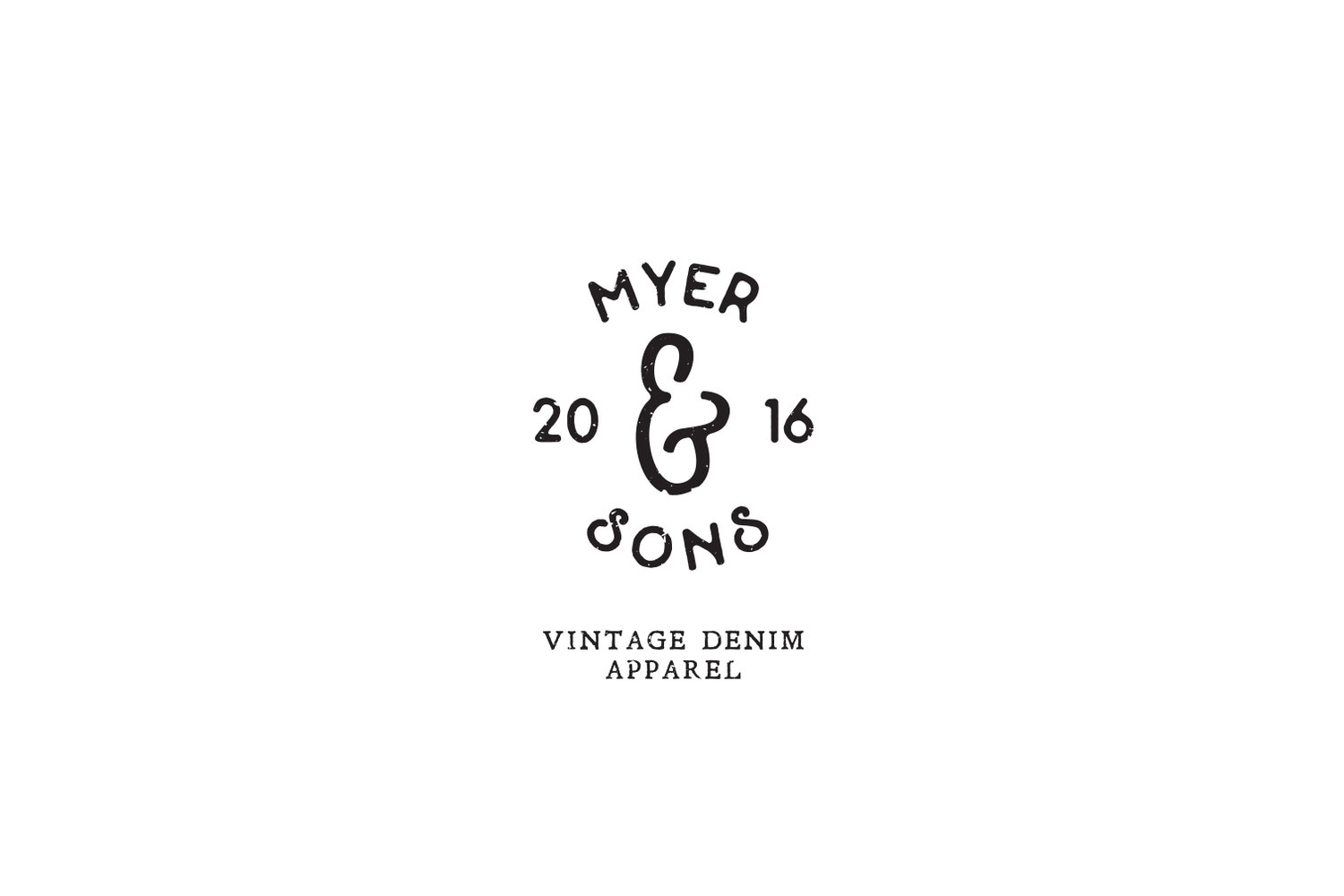 Black and white logo design for Myer and Sons