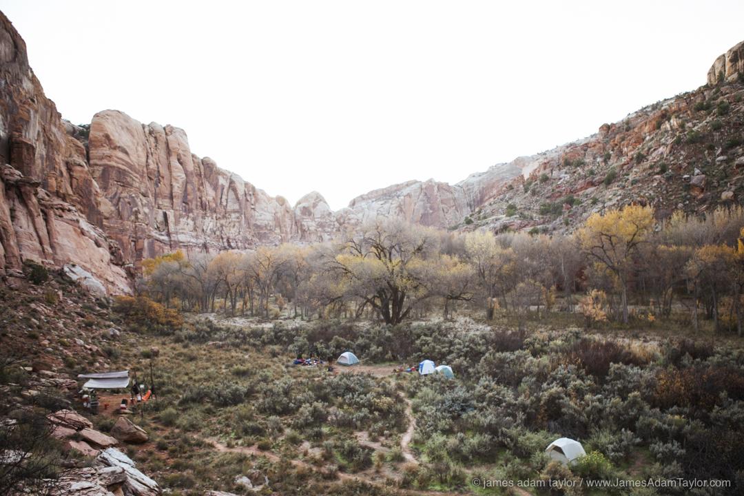 Morning over Phipps camp, along Boulder Creek.