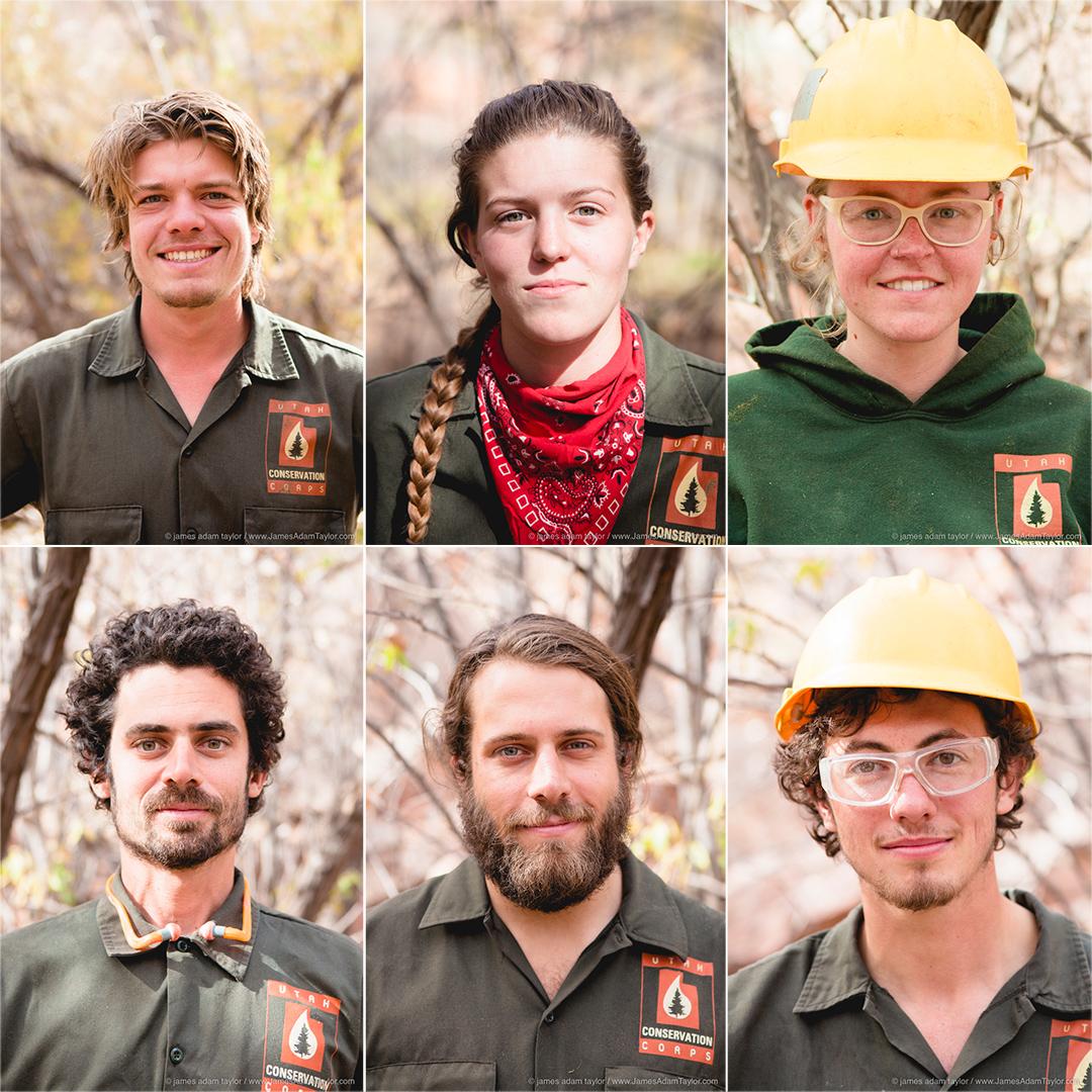 Boulder B crew members, (top left to bottom right) Joseph Klingelhutz, Sophia Knaphus, Lauren Breitling, JP Smith, James Shaw, and Nolan Crees.