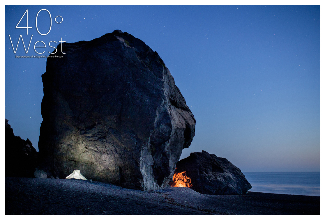 Split Rock Camp, taken on Black Sand Beach along the Lost Coast Trail, while working on my  Keepers of the Lost Coast project .