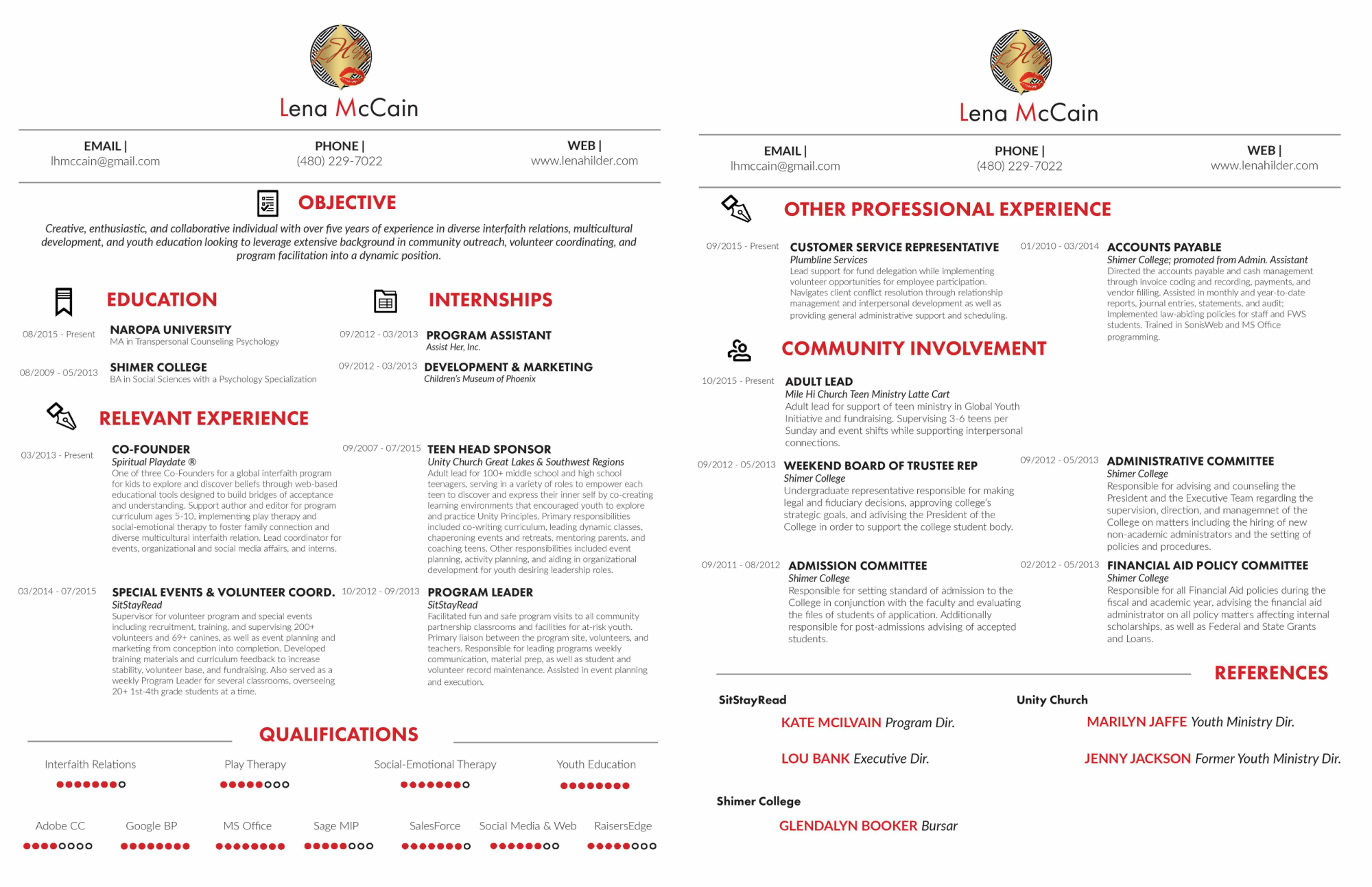 Click here to download Lena's resume