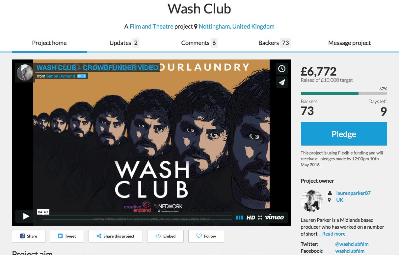 Crowdfunder.co.uk/washclub - 1st May 2016