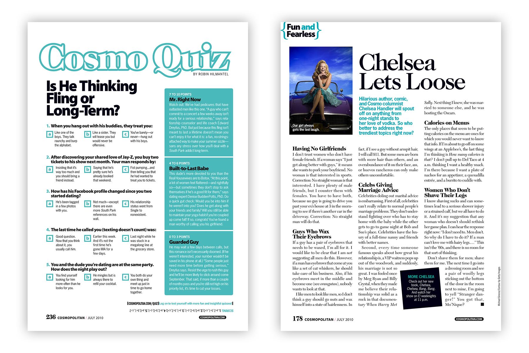 Cosmo Quiz & Chelsea Handler Lets Loose