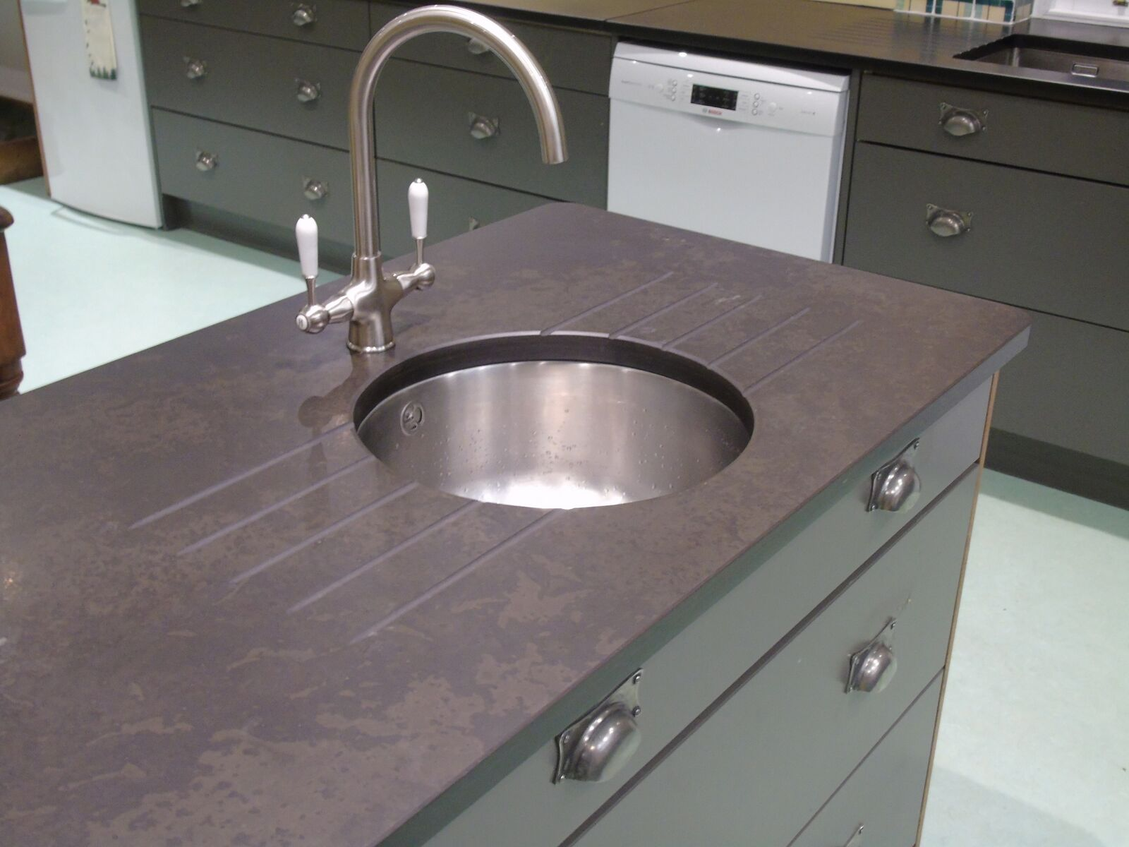 Caithness stone worktop and sink
