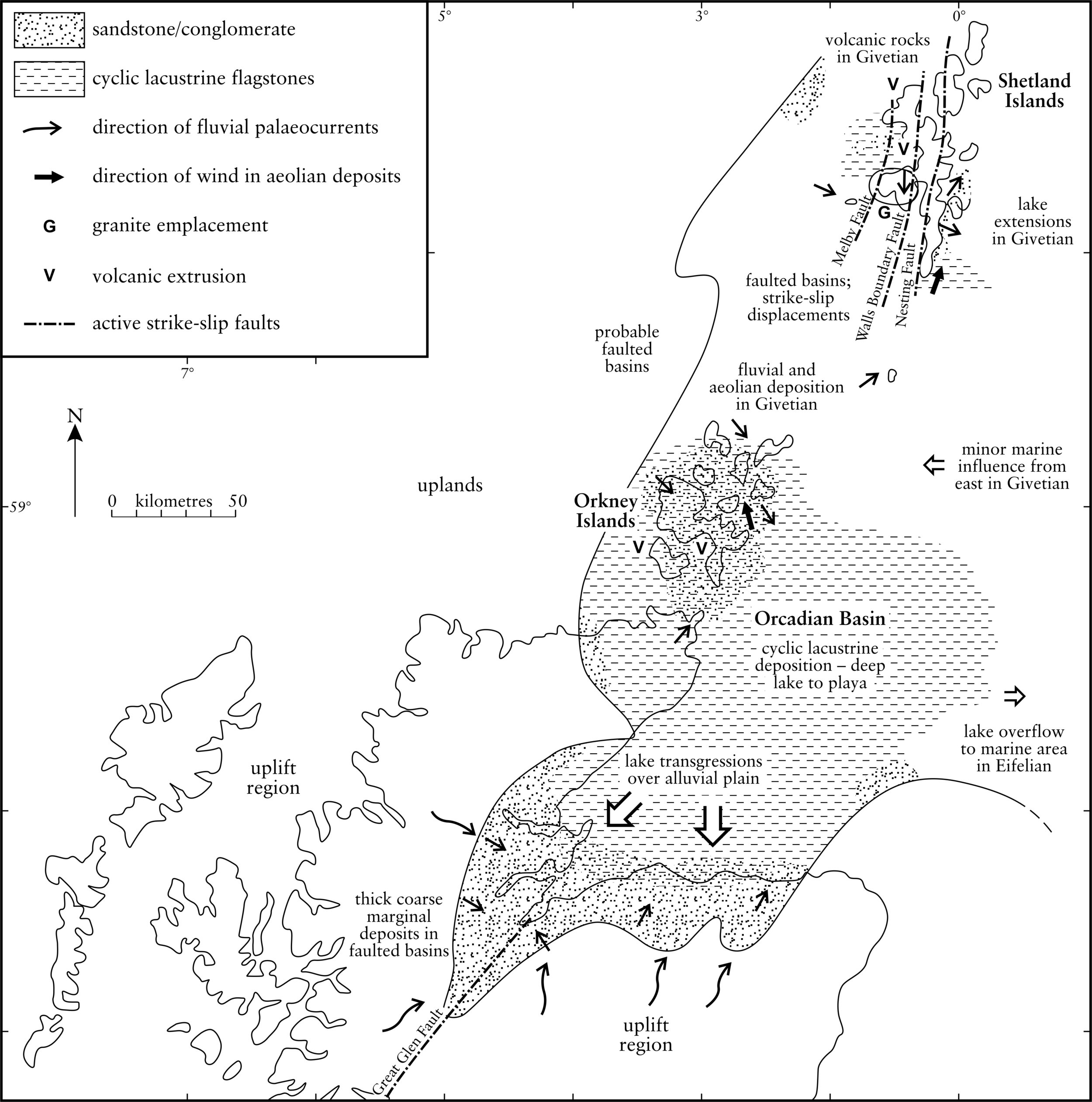 Map of the Orcadian Basin