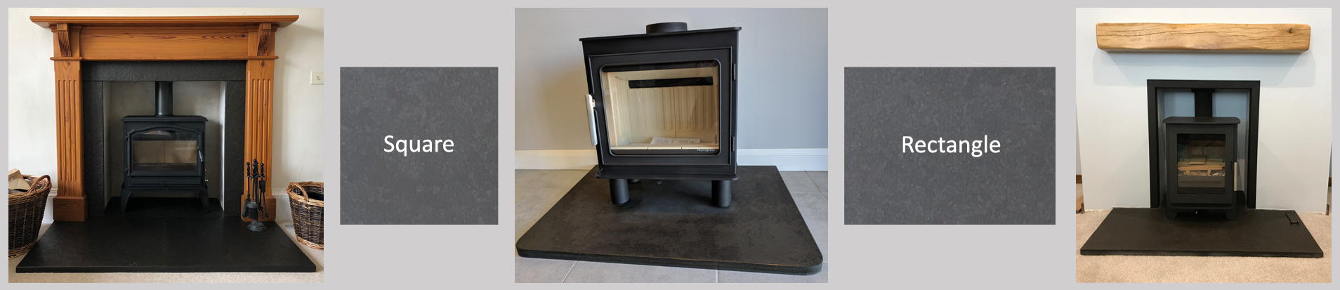 Norse Stone Square and Rectangle Caithness Flagstone Hearth