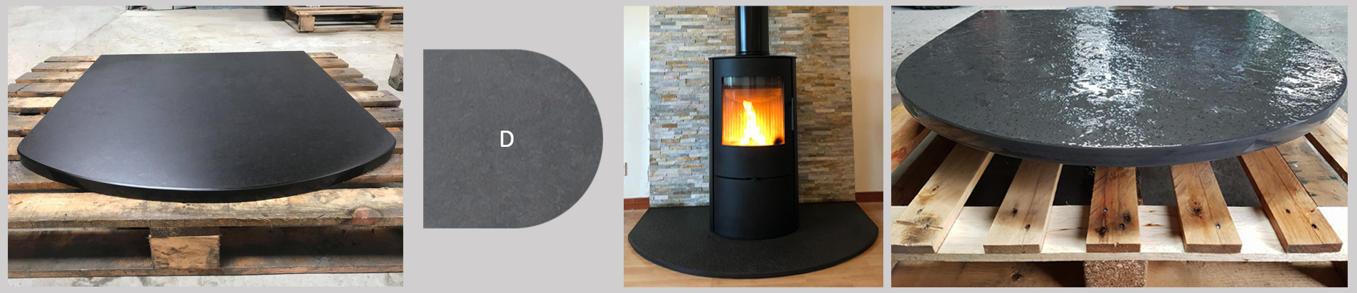 Norse Stone D Caithness Flagstone Hearth