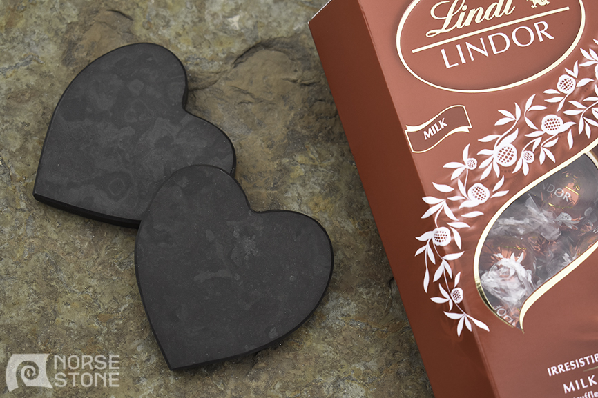 Norse Stone Valentines Day Heart Coasters