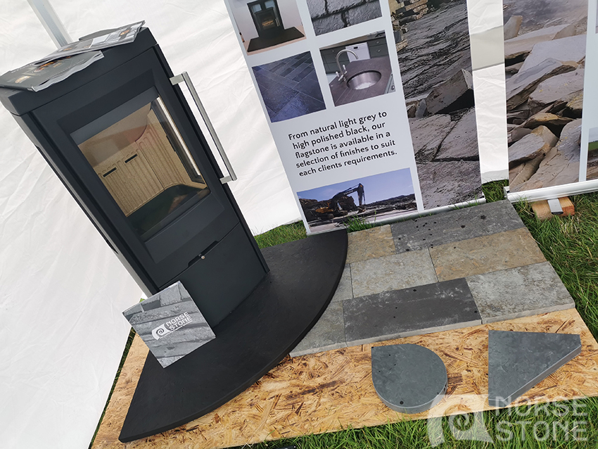 Hearth, stove and paving display