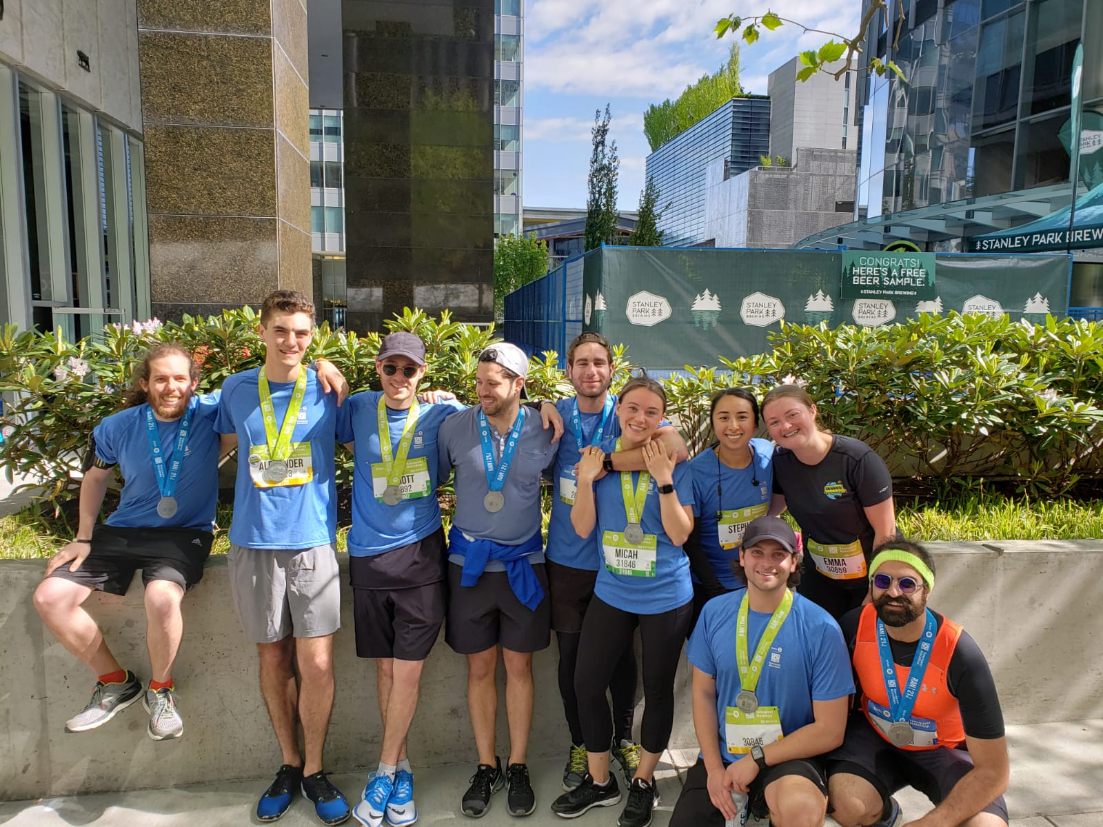 Some of our team members for the BMO Vancouver 2019 Marathon!