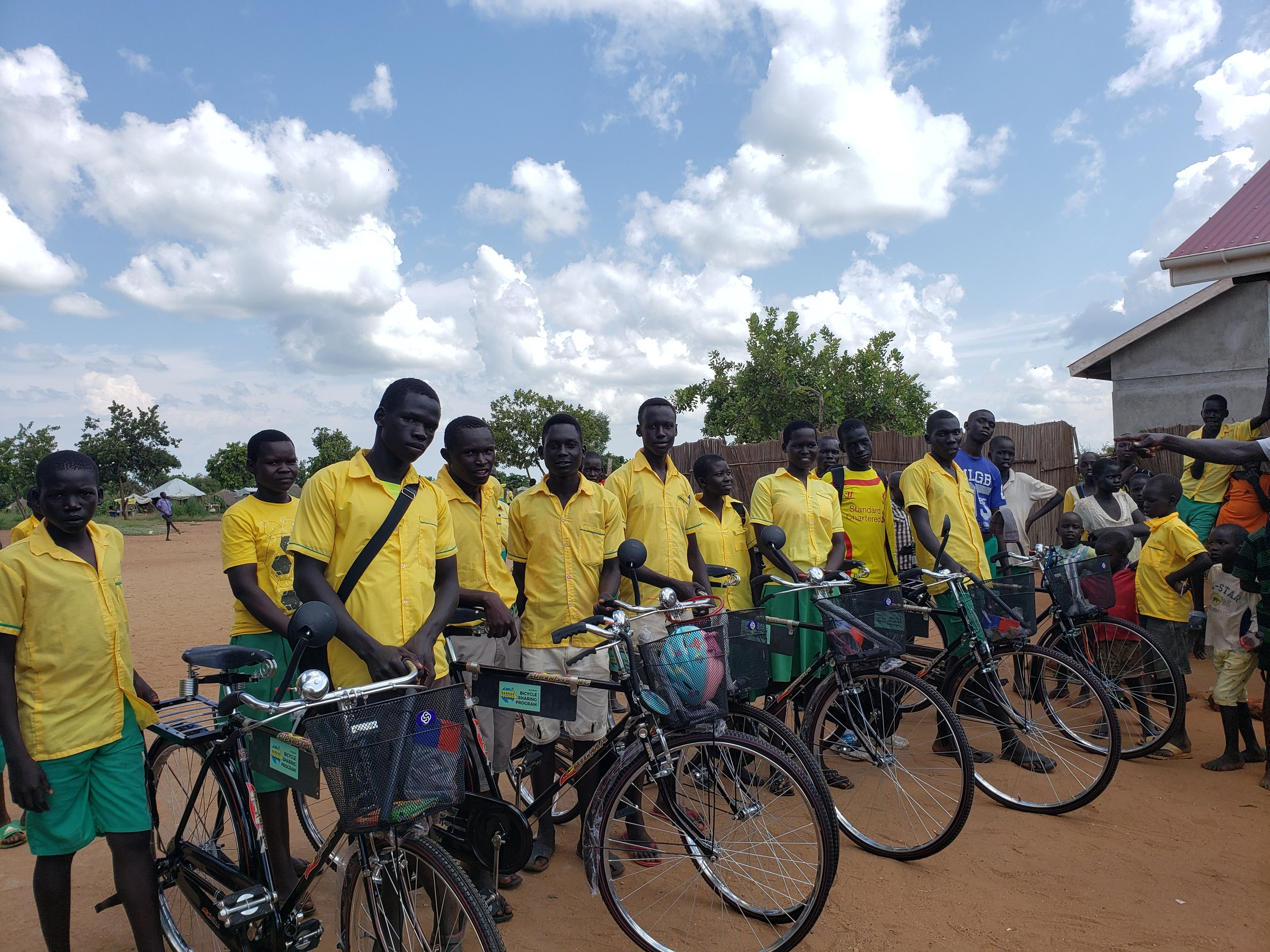 Twajiji Primary School students selected to participate in the TWSB Bike Share Program, selected based on distance from school, attendance, and academic performance.,
