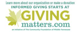 Learn more at  our GivingMatters page.