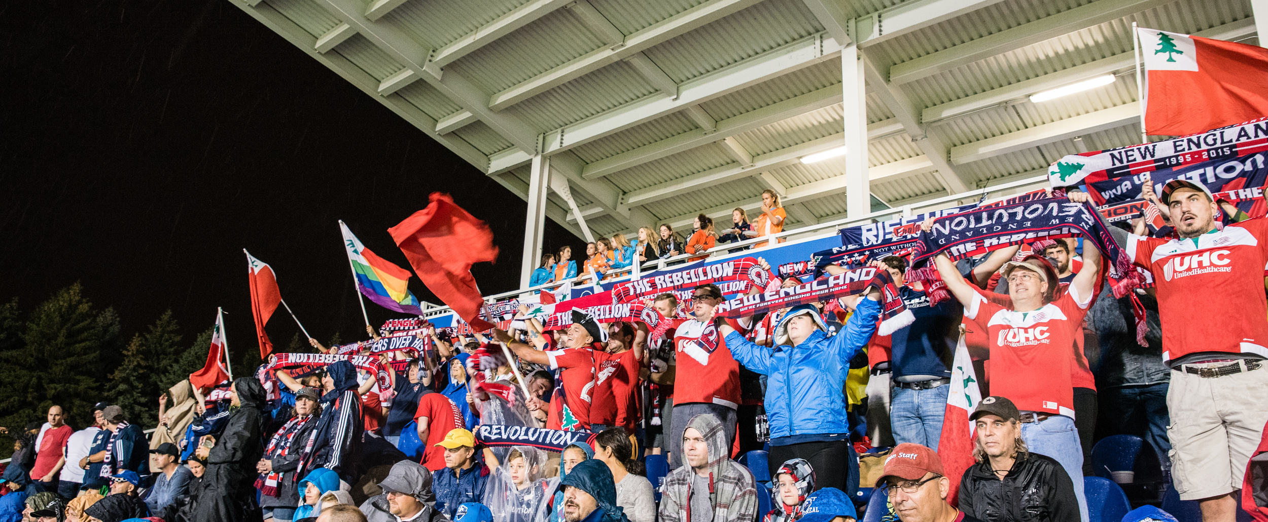 Rebels bringing the noise at Stade Saputo last year. Photo by Joseph Raviele.