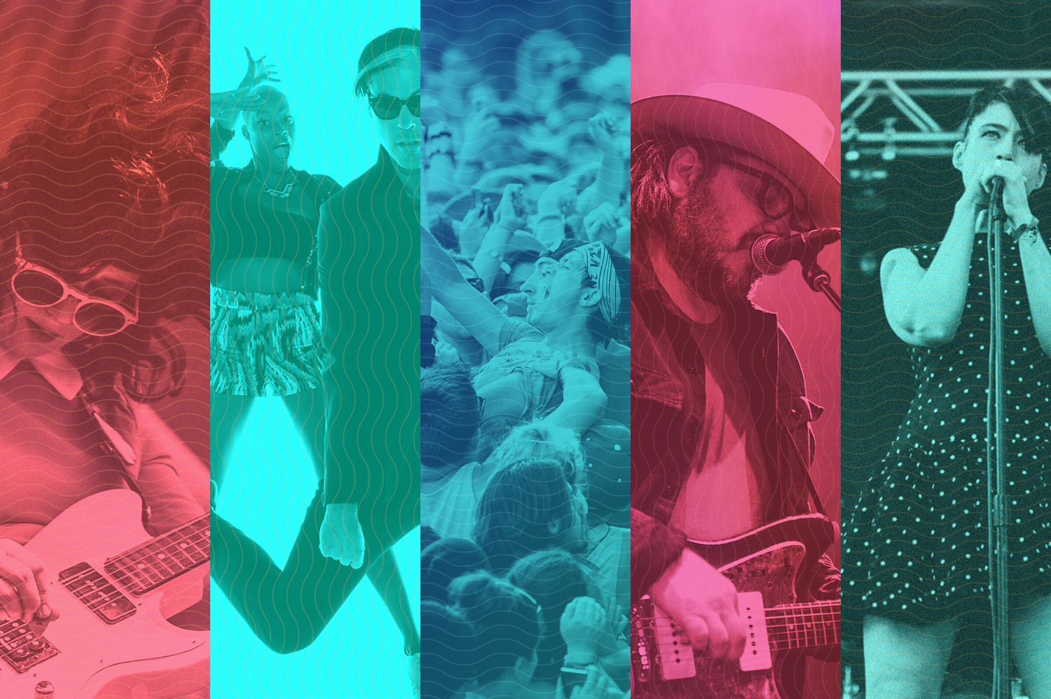 The bands are coming, the bands are coming! From left: Waxahatchee, Fitz and the Tantrums, Lollapalooza, Wilco's Jeff Tweedy and Julie Ruin. Photos by Matt Lief Anderson (Waxahatchee), Will Rice (Lolla), Matt Lief Anderson (Tweedy) and Kristina Pedersen (Julie Ruin).