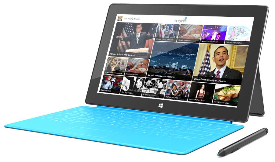 MSN News App on Windows Surface