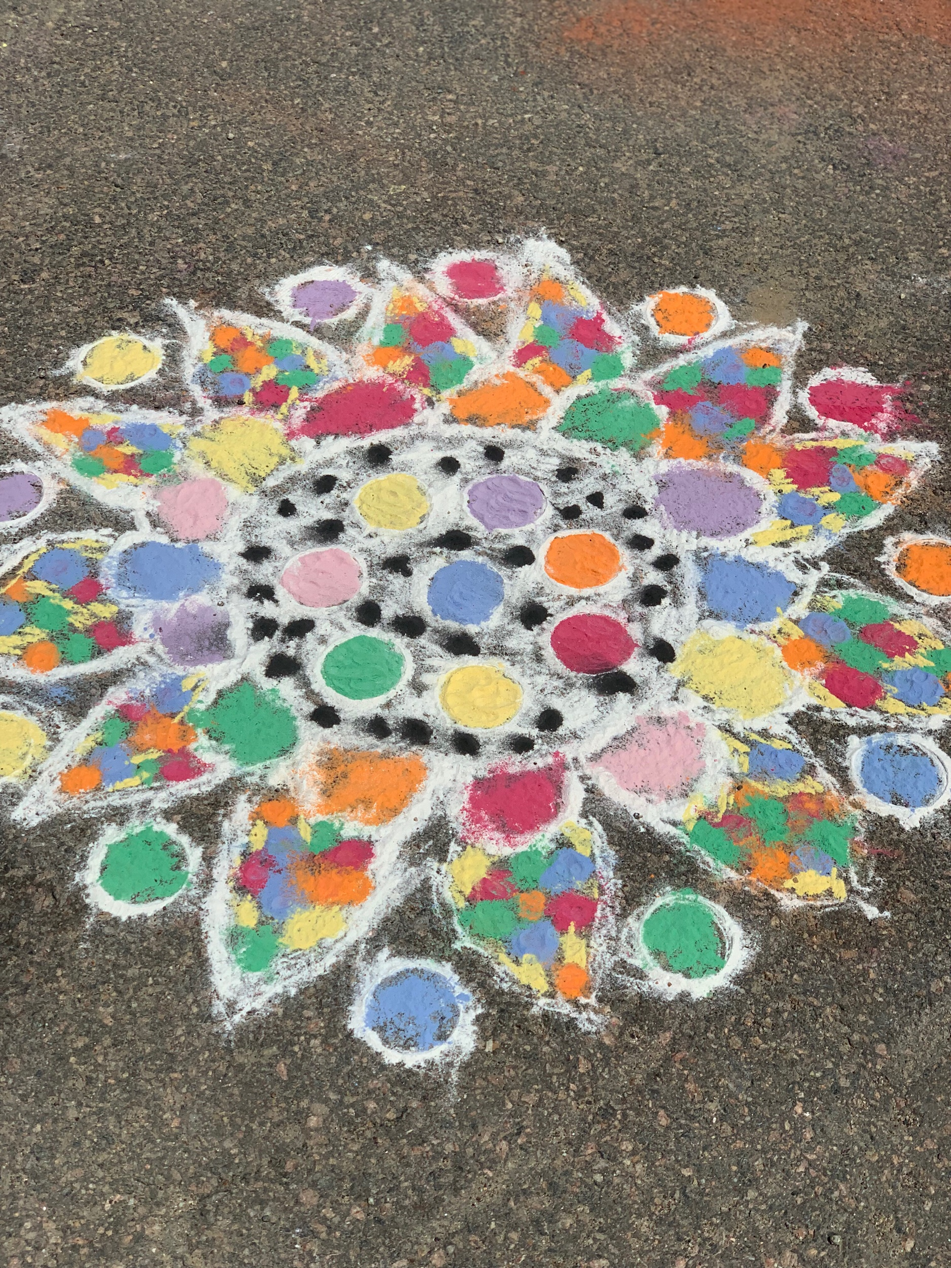 Rangoli (not mine, by someone else who has more artistic ability)
