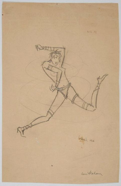Louis Kahan,  Josephine Baker , Paris, 1926, pencil on paper, 23.4 x 15.4 cm, RMIT Design Archives.