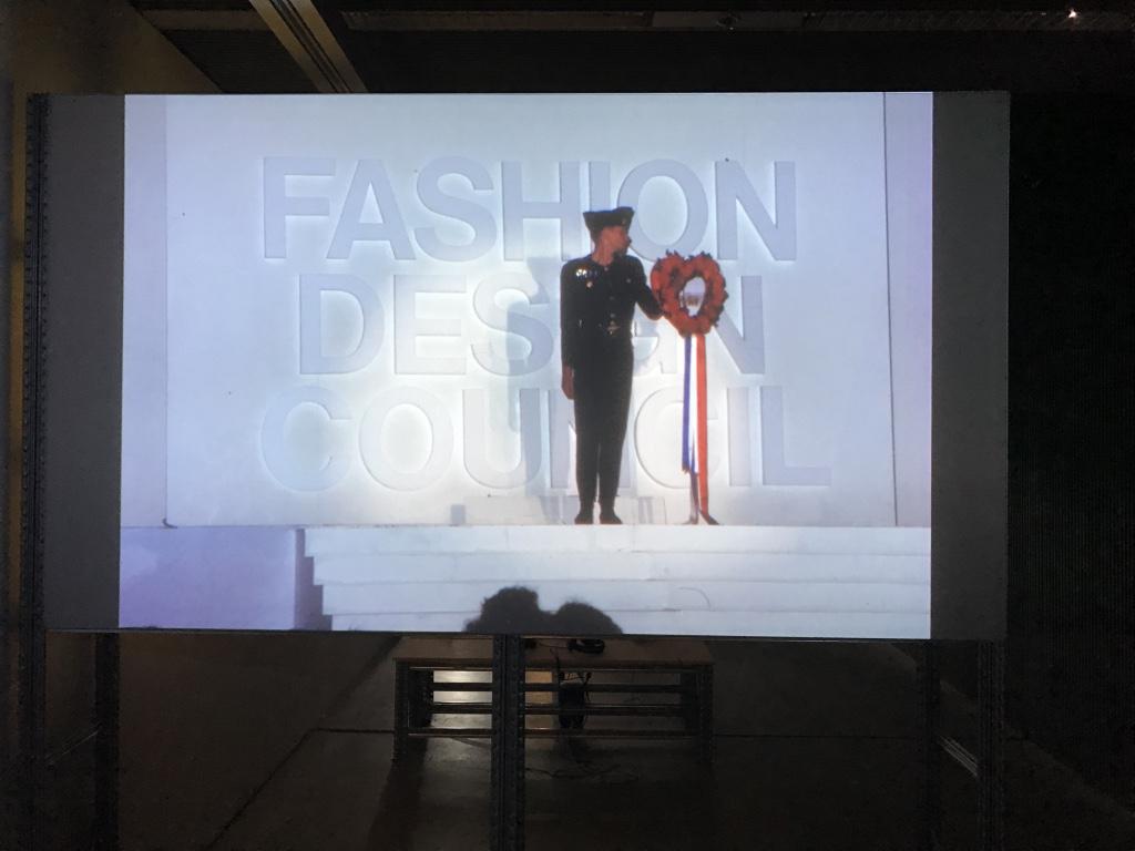 Exhibition installation: FDC parade screenings