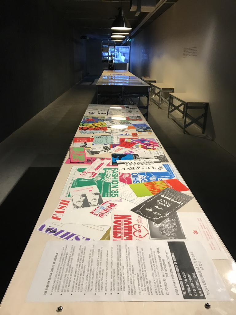 Exhibition installation: FDC archives