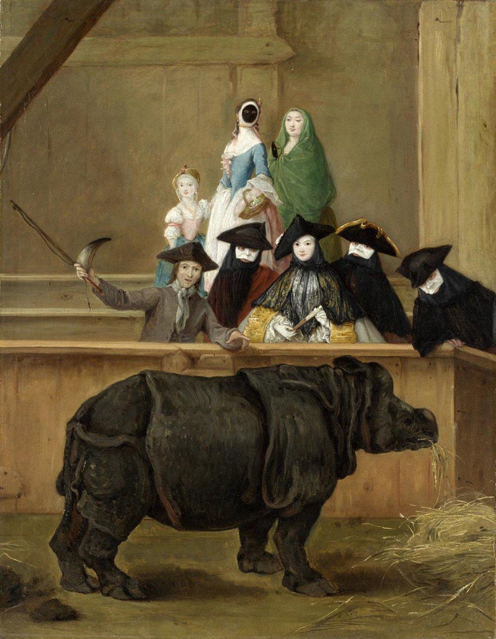 Pietro Longhi, Clara the Rhinoceros, 1751  (Ca' Rezzonico, Venice)