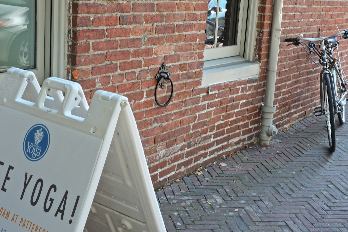 Bike locking station installed in Fells Point at Charm City Yoga.