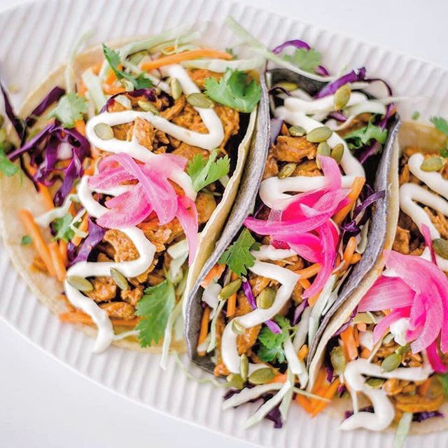 Hola, it's $3 Taco Mondays tomorrow @goodness.gracias ...it's fast becoming our most busiest day, because...tacos 🤩 . Let's taco'about what's on the $3 taco menu tonight? . We have 7 plant-based options to choose from; 🌮 Creamy Chipotle Blackbeans + Corn (GF) 🌮 Smokey Jack + Pink Pickled Onion(GF) 🌮 BBQ Beef & Bacon 🌮 Hoisin Duck + Pink Ginger 🌮 Garden of Eden + Pepitas (GF) 🌮 Pesto Tempeh & Chickpea (GF) 🌮 Chorizo + Pico de Gallo . . Choose between a wheat, lettuce or corn soft taco shell....Plus we have 4x Gluten Free options tomorrow!!! . See you from 4.30pm amigos 🕺🏼✊🏼✨ . . . #tacomonday #healthy #tacoaboutit #tacotrio #ohmygoodness #$3tacos #veganmexicanfood #goldcoastfood #vegantacos #palmbeach4221 #healthy #goldcoastvegan #goldcoast #vegangoldcoast #veganeats #plantbased #goodoldvegan