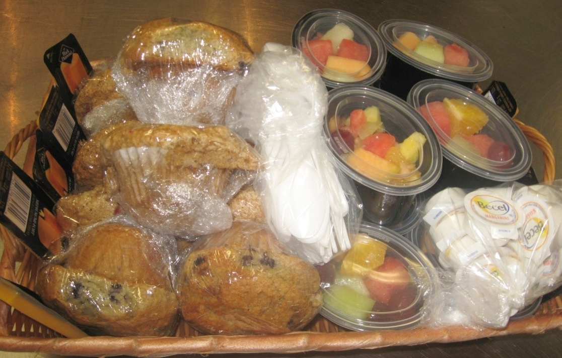 Muffin & Fruit Basket