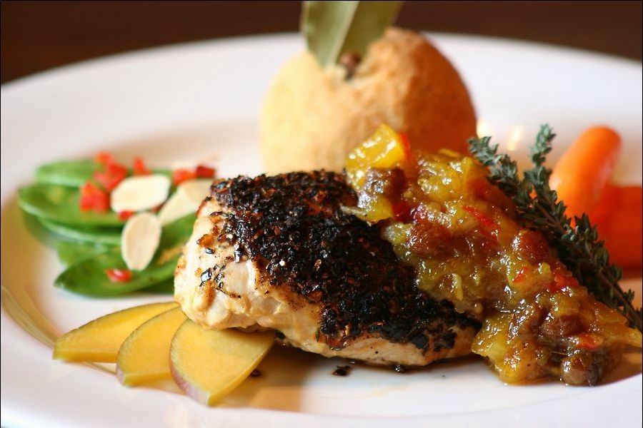Blackend Chicken with Mango Chutney
