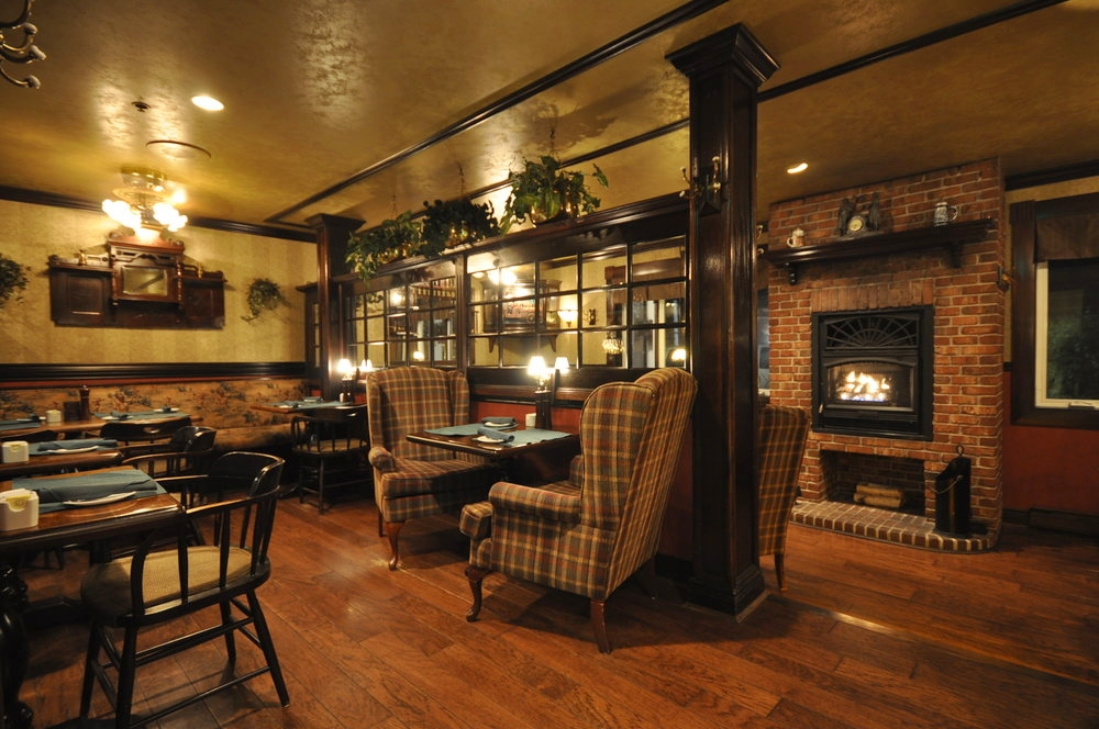 Upper Level over-looking fireplace can be configured to accommodate parties of 8 to 10