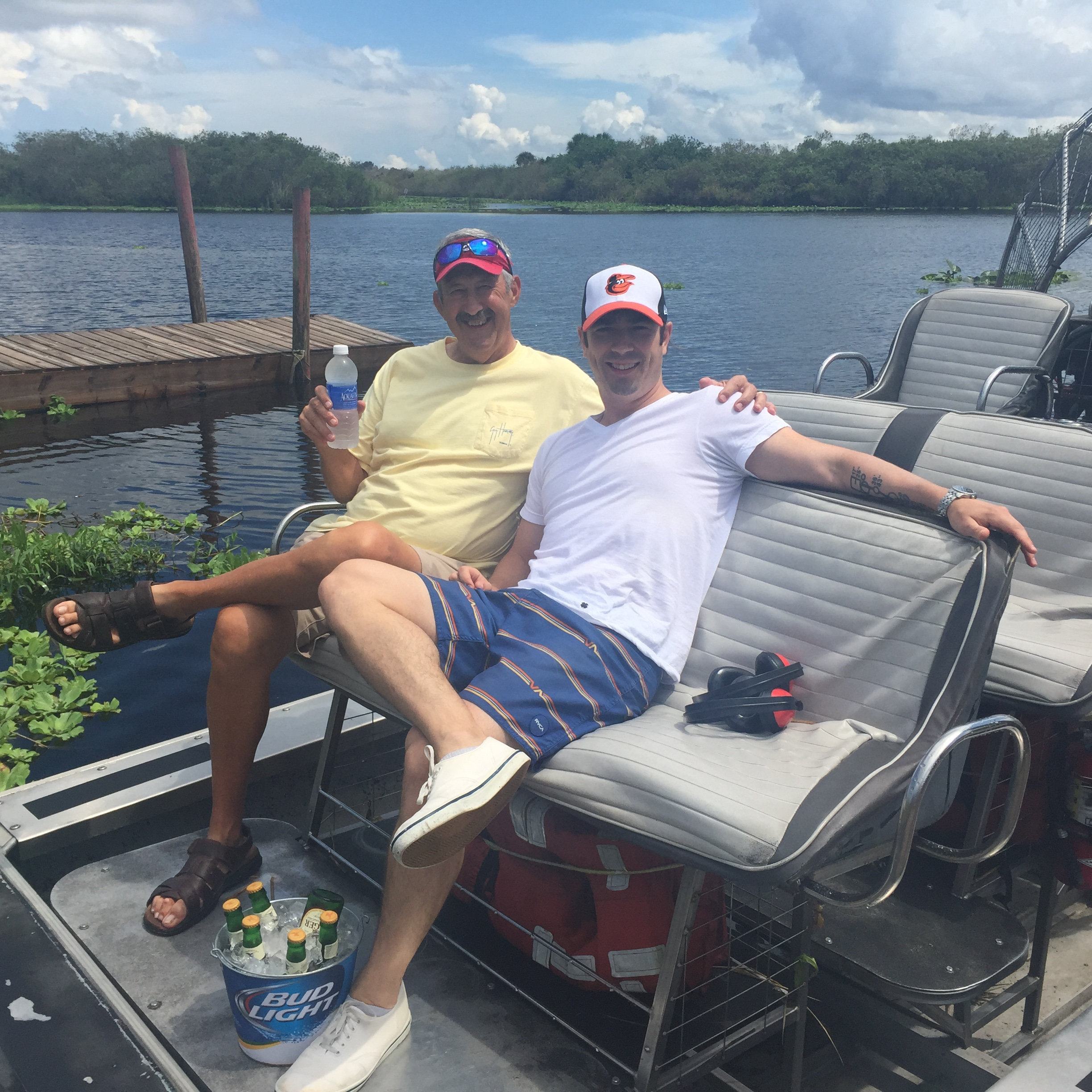 Uncle Mike and Danny doing it up Florida style.