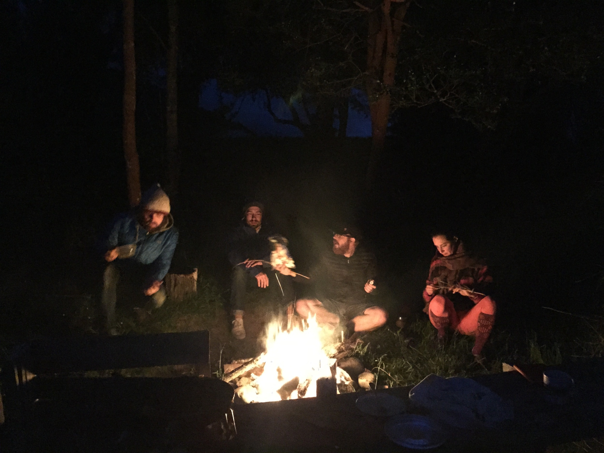 How we spend most of our nights in Patagonia.