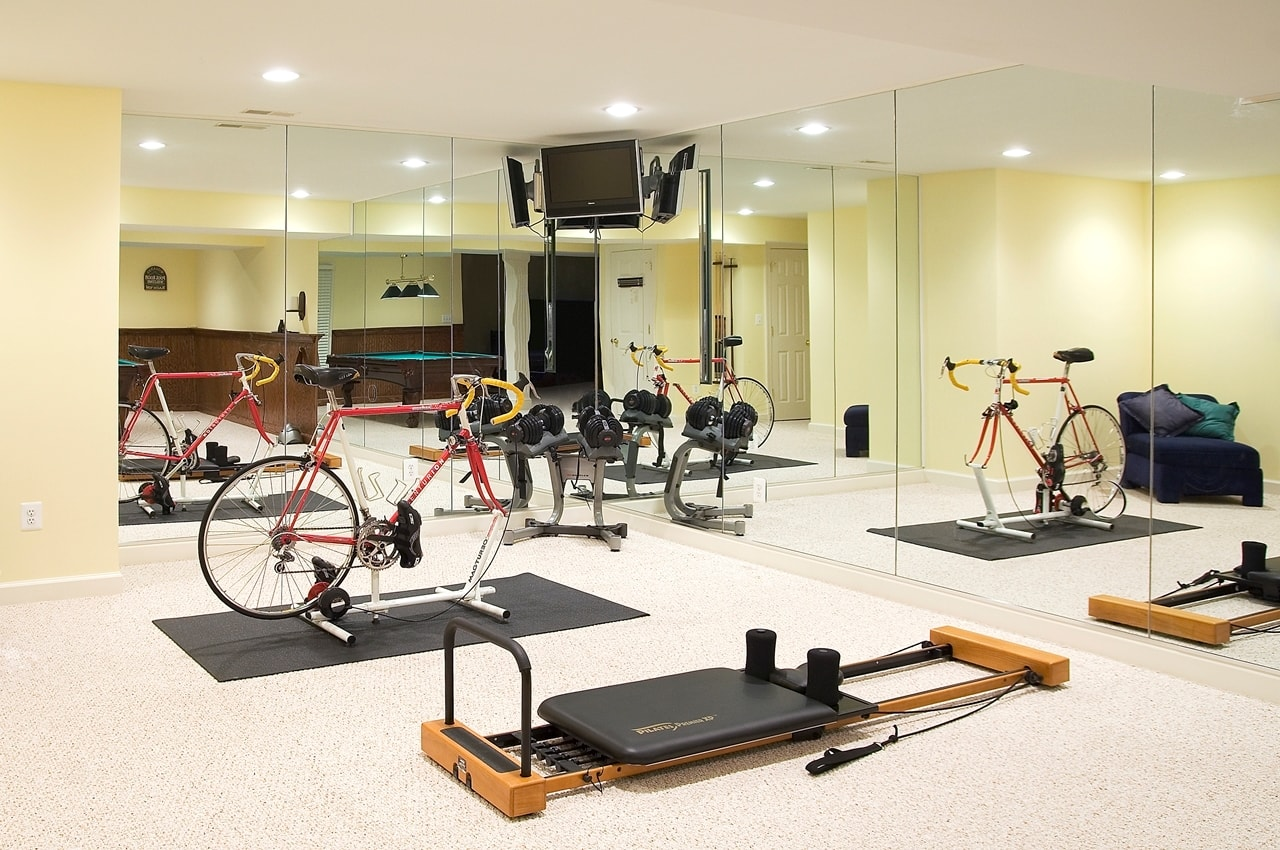 Basement exercise room frederick md