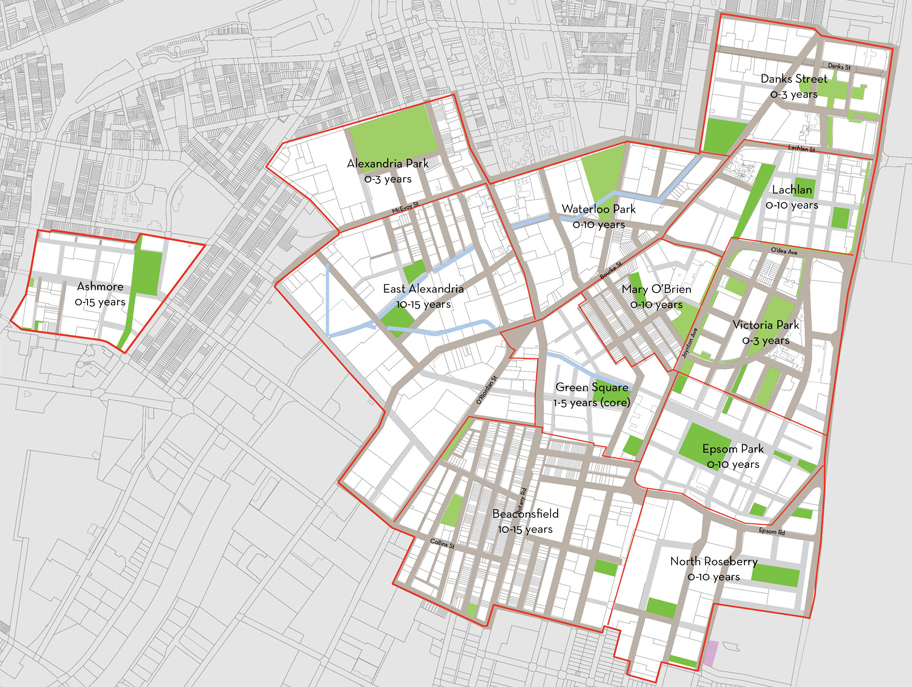 Precincts within the Open Space Study
