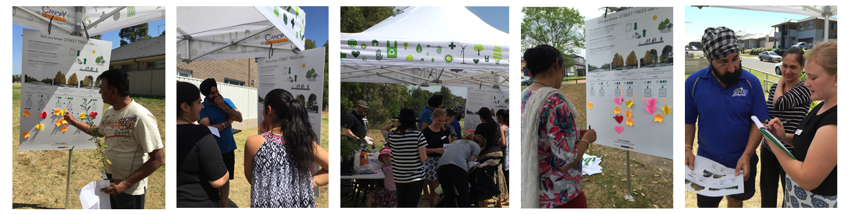 Several community consultation days were held as part of the Cool Streets Pilot Project