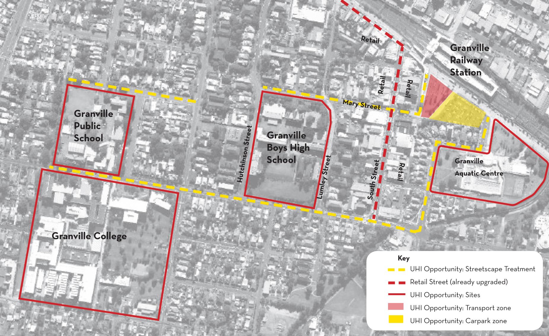 Sample opportunity plan for the Granville Precinct