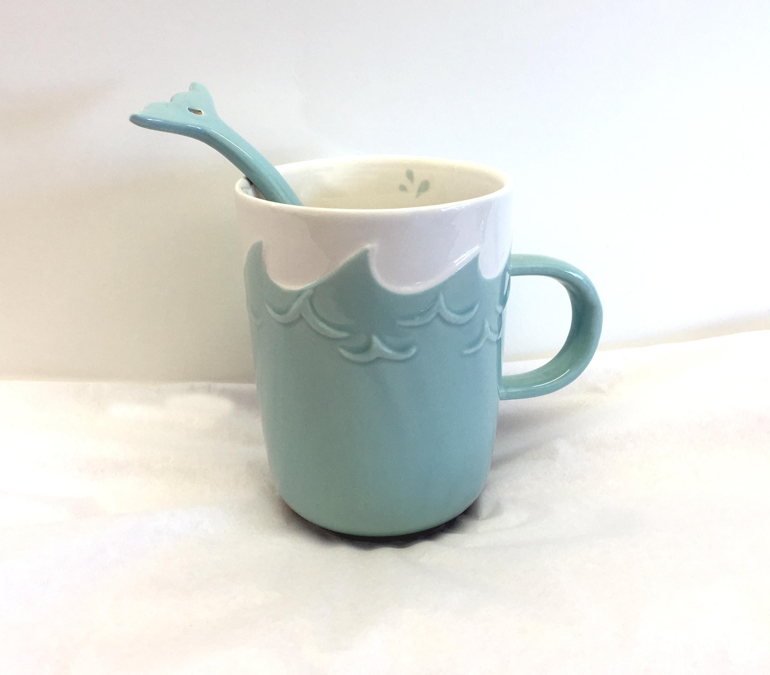 Coffee Mug w/ Whale Tail Stirrer