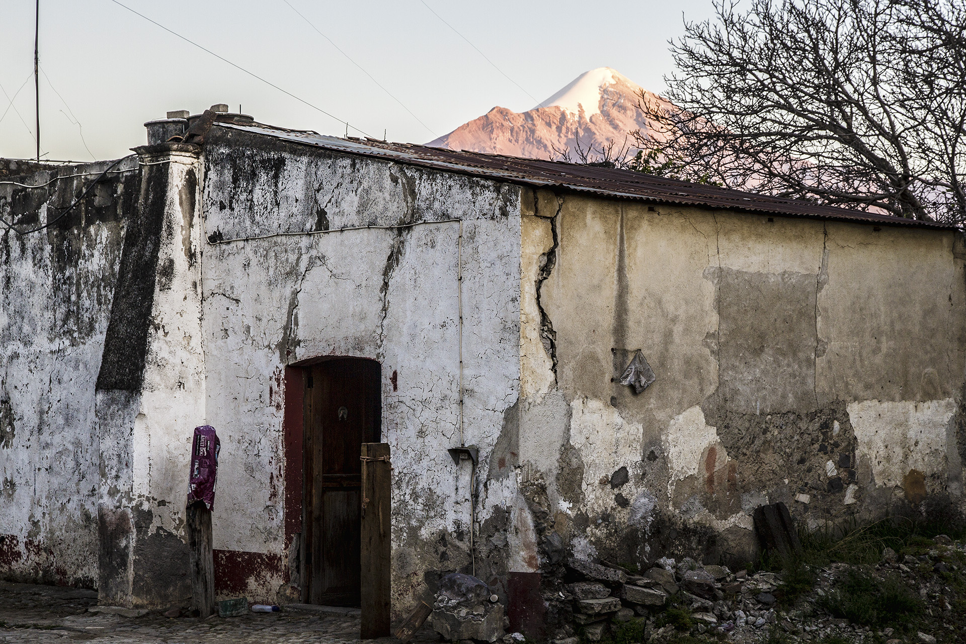 Dr. Reyes' lodge has impressive history and provides great views of our objective, Pico de Orizaba, as the sun dips toward the horizon.