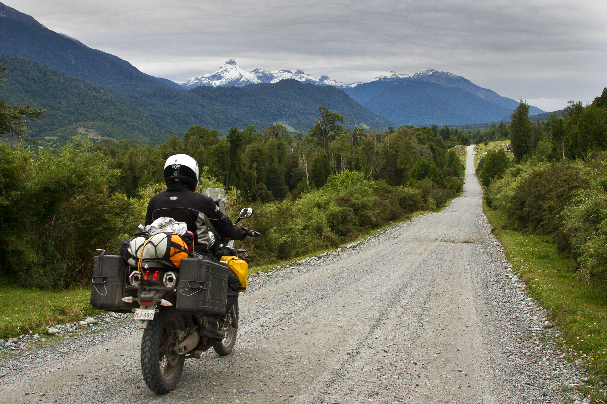 The man-made spine of Chilean Patagonia is the unpaved Ruta 7, better-known as the Carretera Austral. Spanning 770 miles from Puerto Montt to Villa O-Higgins, the unpaved highway meanders through dense Valdivian temperate rain forests, glacial fjords and Andean mountains. At a handful of small towns along the way, one can opt to cross the border into Argentina by braving the hanging valleys of the Andes and be spit out into the sprawling emptiness of golden Patagonian steppe.