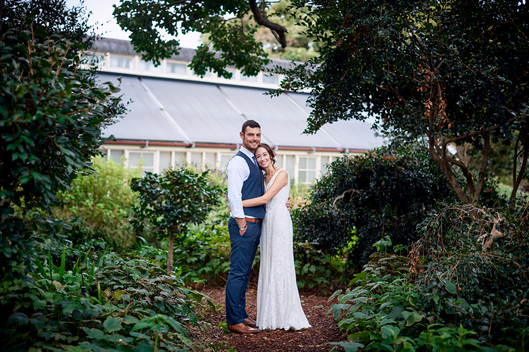 Bride and groom in garden.jpg