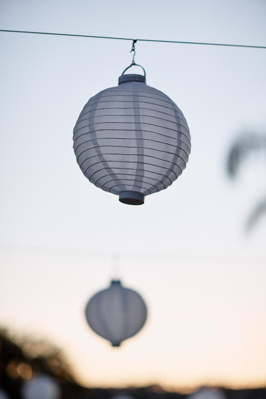 Hanging lantern at Royal Motor Yacht Club Newport