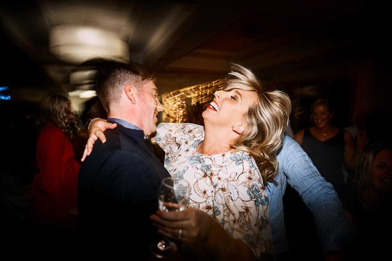 Couple dancing at Royal Motor Yacht Club Newport