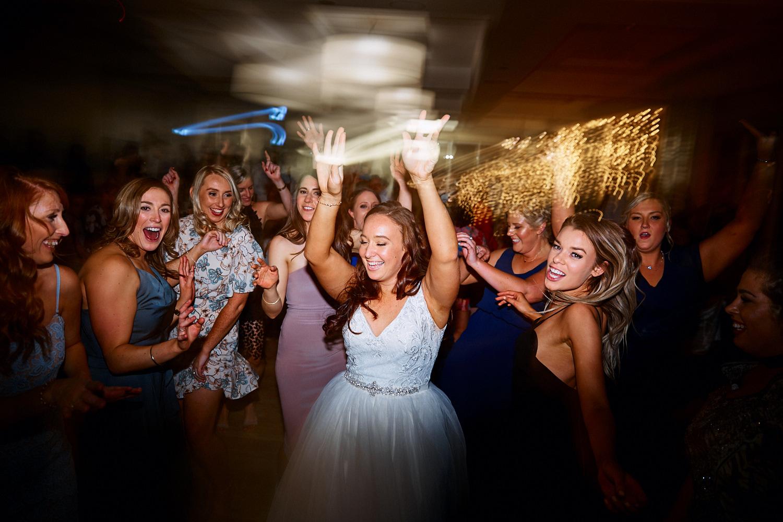 Bride on dance floor at Royal Motor Yacht Club Newport