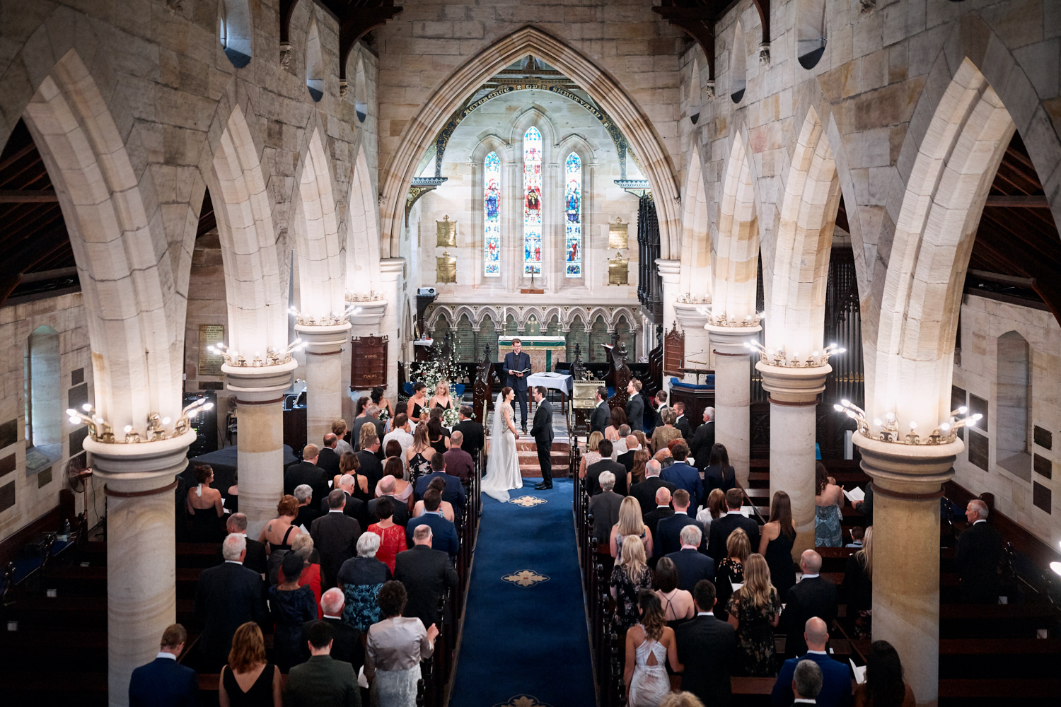 Wedding ceremony at St Marks Anglican Church, Darling Point